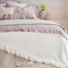 LACE FRILL BEDSPREAD AND CUSHION COVER - Bedspreads - Bedroom | Zara Home Croatia