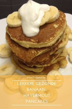 Oats Recipes, Pureed Food Recipes, Sweet Recipes, Healthy Sugar, Healthy Desserts, Healthy Food, Chocolate Lasagne, Banana Cream Cakes, Banana Oatmeal Pancakes