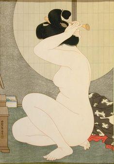 Arranging Hair, 1932 - Hakuho Hirano