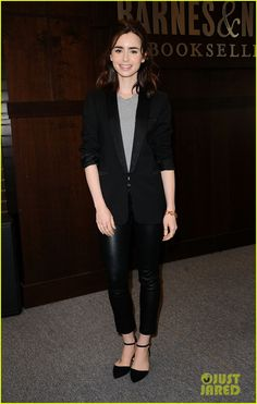Lily Collins Signs Copies of Her New Book 'Unfiltered' in L.A.