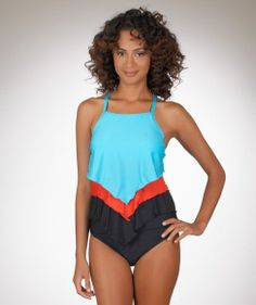Athena Heavenly High Neck Layer Tankini...good for ...