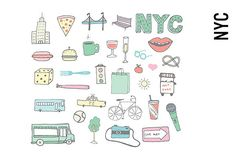 New York City Doodles by Pepper on @creativemarket