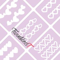 Nail Vinyls-Largest Nail Stencil Selection in the World – Twinkled T