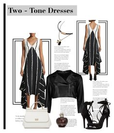 """*Two-Tone Dresses Contest* - set#2"" by sassy-elisa ❤ liked on Polyvore featuring 10 Crosby Derek Lam, Boohoo, Schutz, Dolce&Gabbana, Christian Dior and twotonedress"
