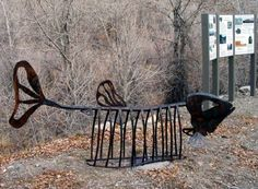 Fishbone bike rack. Click image for source & visit the slowottawa.ca boards >> http://www.pinterest.com/slowottawa/boards/