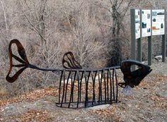 Fishbone bike rack. Click image for source & visit the slowottawa.ca boards >> http://www.pinterest.com/slowottawa/boards/