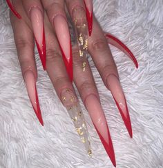 MelNailz on Instagra Claw Nails, Aycrlic Nails, Hair And Nails, Gorgeous Nails, Pretty Nails, Long Stiletto Nails, Long Red Nails, Exotic Nails, Fire Nails