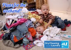 Don't let the laundry ruin your plans for the weekend. Bring it into DC4U – We'll take the load off your shoulders.
