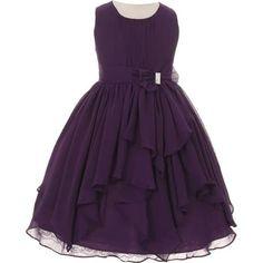 eggplant flower girl dresses
