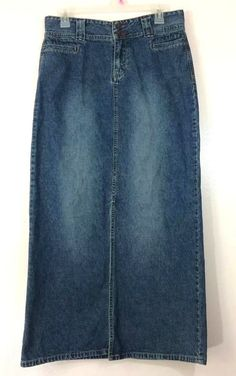 8c859d8b17 Union Bay Denim Long Maxi Skirt Size 9 Blue Jean 100% Cotton Straight  #UNIONBAY #StraightPencil #Casual