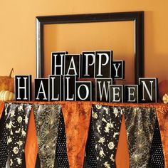 Bewitching Halloween Mantel Scarf - cute!