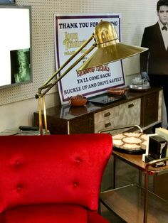 Large Brass 80's Floor Lamp   $145  Mid Century Dallas Booth 766  Lula B's 1010 N. Riverfront Blvd. Dallas, TX 75207