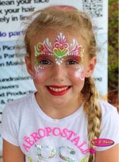 Princess face painting. I swear this girl would make a perfect Elsa. #Princess #Face Painting #Jacksonville #Art-Z-Faces