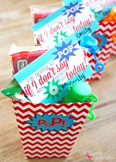 POP Party Favor Idea with Free Printables - Popcorn, ring pops and bubbles make this so much fun! MichaelsMakers Positively Splendid