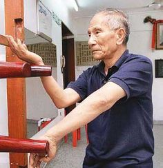 Ip Chun, the son of legendary Wing Chun Kung Fu master Ip Man (Bruce Lee's initial teacher). Ip Chun is 86 and still teaches and spars several times a week. I hope to be at least half as alert, limber and active when I'm his age.