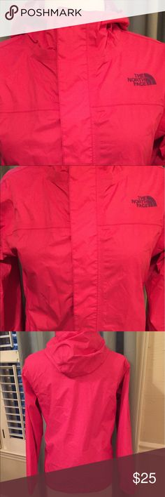 The North Face Girls Raincoat Lightweight Raincoat from The North Face.  Girls size Large (14/16).  I wear a women's XS and this fits me.  My daughter wore this and I can't see any signs of wear but I'm listing low in case I've missed something. The North Face Jackets & Coats Raincoats