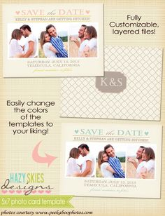 Save the Date  by Hazy Skies Designs