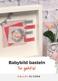 Baby memories in the frame- Baby-Erinnerungen im Rahmen tips for perfect baby photos with your smartphone: … - Mason Jar Crafts, Mason Jar Diy, Smartphone, Baby Frame, Diy Hanging Shelves, Diy Bebe, Foto Baby, Baby Memories, Baby Blog