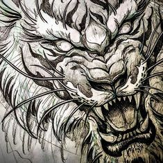 I wish everyone to be in full BEAST mode for kill everything in your path. Tattoo Sketches, Tattoo Drawings, Art Sketches, Tiger Tattoo, Lion Tattoo, Toronto Tattoo Artists, Whatsapp Logo, Muster Tattoos, Japanese Tattoo Art