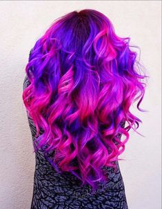 Our feature page celebrates edgy, beautiful hair, makeup and nail art. Bold Hair Color, Cute Hair Colors, Pretty Hair Color, Beautiful Hair Color, Hair Dye Colors, Bright Hair, Ombre Hair Color, Crazy Hair Colour, Galaxy Hair Color