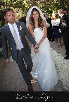 Love Songs - Lily Aldridge and Kings of Leon's Caleb Followill, 2011The bride wore: Vera WangHow they met: At Coachella
