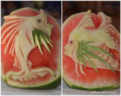 Watermelon Fish #fruitart