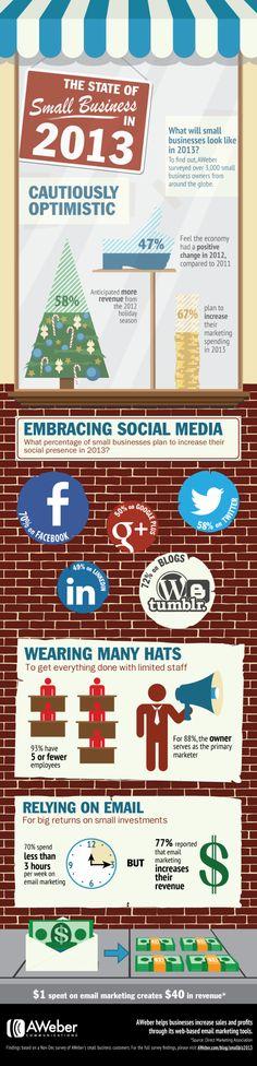 The state of small business in 2013 #infografia #infographic #socialmedia