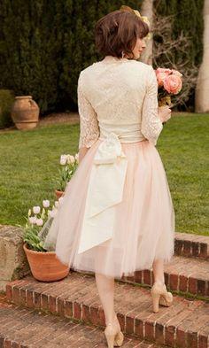 Vintage Tulle Bridesmaids Skirt | Blushing Bride