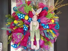 Easter Wreath, Spring Wreath, Easter Decoration, Door Hanger, Front door wreaths, Wreath for door, Spring Decoration, Ready to Ship by OccasionsBoutique on Etsy