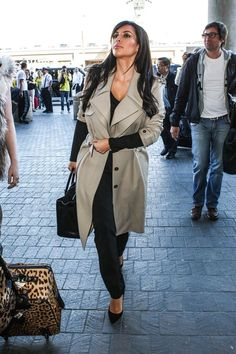 Kim Kardashian trench coat