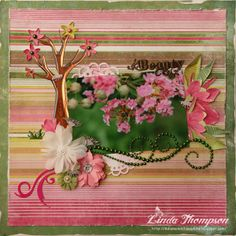 2013  FWAB Linda Thompson, Maze, Flourish, Floral Wreath, Bling, Wreaths, Memories, Projects, Design