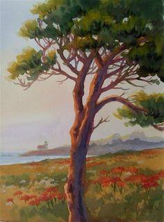 """Deck With a View"" - Original Fine Art for Sale - © Erin Dertner"