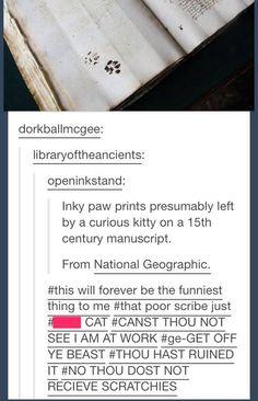 Inky paw prints