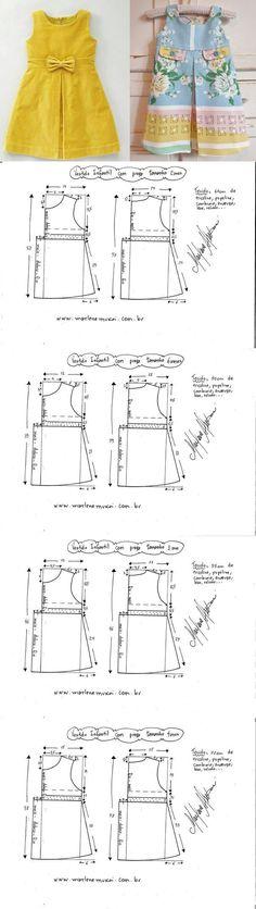Выкройка платья для девочки от 1 до 12 лет (Шитье и крой) | Журнал Вдохновение Рукодельницы