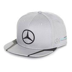 Mercedes Benz Petronas AMG Formula 1 Lewis Hamilton Gray Flat Brim Hat Cap Gorras  Planas 37e13baa101