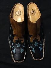 Lucchese Womens Leather Mule Boot Size 8 1/2