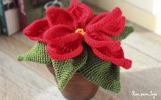 Cómo tejer una flor de pascua de ganchillo Herb Pots, Trees And Shrubs, Xmas Crafts, Container Plants, Poinsettia, Crochet Flowers, Mother Nature, Plant Based, Holiday