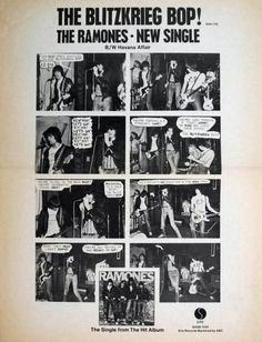 Ramones Blitzrieg Bop Advert 1976 Rock Music, My Music, Moral Panic, Anarcho Punk, Punk Poster, 70s Punk, Joey Ramone, Play That Funky Music, The Stooges
