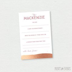 Printable Time Capsule Cards Note to Birthday by PrintsForEvents