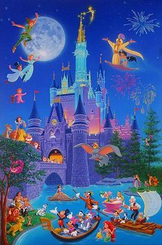 Can you name all these famous Disney characters?