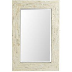 Select mother-of-pearl shells are inlaid to form the ivory mosaic frame that defines this gorgeous wall mirror. The piece is a smaller version of a Pier 1 best-seller and reflects why seafaring cultures have always collected such treasures to bring good luck. Take one home and you're sure to feel fortunate, too.