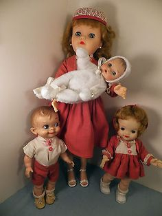 Vintage MOST HAPPY FAMILY EFFANBEE DOLLS-Fluffy, Mickey, and Babykin