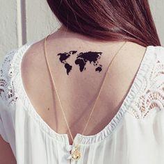 World Map Tattoo // Cristina Ramella Jewelry