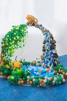 Water fountain ballon sculpture #balloon#decor