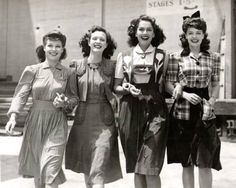 1940s Fashion (Dirndl Skirt/dress second from the right)