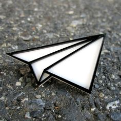 Classic Paper Airplane Pin by amybsjewelry on Etsy, $12.00