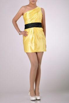 Mini Sleeveless One Shoulder Cocktail Dress Price : $129.99 Free Shipping!