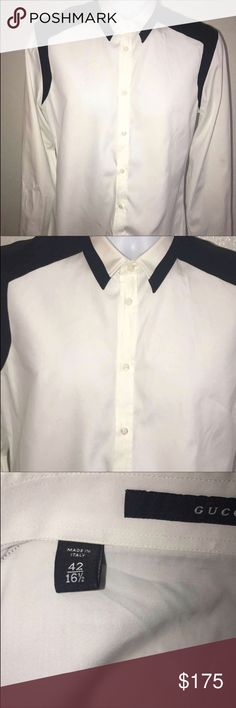 Men's Button Down Shirt Men's designer shirt in excellent condition. Skinny . Gucci Shirts Dress Shirts