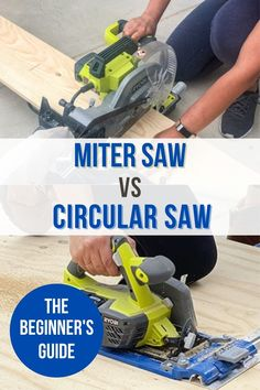 Miter saw vs. Circular saw: Both have their advantages and disadvantages. See which one is right for you as a beginner with this guide. Kreg Jig Projects, Scrap Wood Projects, Woodworking Projects That Sell, Diy Home Decor Projects, Home Improvement Projects, Diy Woodworking, Stripping Furniture, Diy Furniture, Used Power Tools