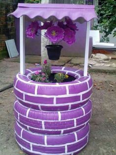 Diy Garden Projects, Garden Crafts, Cool Diy Projects, Craft Projects, Diy Garden Decor, Garden Decorations, Diy Decoration, Ceremony Decorations, Diy Projects Recycled